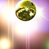 Esfera do disco do ouro Fotografia de Stock Royalty Free