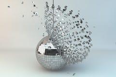 Esfera do disco que explode Fotografia de Stock