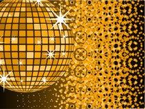Esfera do espelho do disco com Foto de Stock Royalty Free