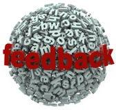 A esfera do feedback 3D rotula comentários da entrada ilustração royalty free