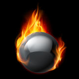 Esfera do fogo Imagem de Stock Royalty Free