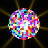 Esfera do glitter do espelho do disco ilustração stock