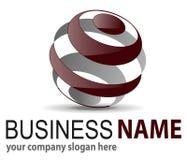 Esfera do logotipo 3D Imagens de Stock Royalty Free