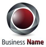 Esfera do logotipo 3D Fotos de Stock Royalty Free