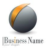 Esfera do logotipo 3D Imagens de Stock