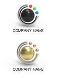 A esfera do logotipo e rasgou Fotografia de Stock Royalty Free
