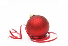 Esfera do Natal Fotografia de Stock Royalty Free