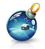 Esfera do Natal ilustração do vetor