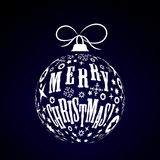 Esfera do Natal branco Imagem de Stock Royalty Free