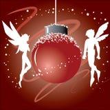 Esfera do Natal com Fairy ilustração royalty free