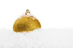 Esfera do Natal com neve Imagem de Stock Royalty Free