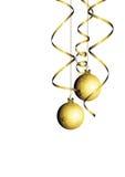 Esfera do Natal com serpentina Imagens de Stock Royalty Free
