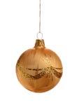 Esfera do Natal do ouro Imagens de Stock Royalty Free