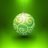 Esfera do Natal do vetor Foto de Stock Royalty Free