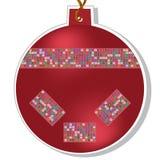Esfera do Natal do vetor com grânulos Foto de Stock
