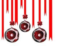 Esfera do Natal isolada no branco Imagem de Stock Royalty Free