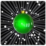Esfera do Natal no fundo escuro ilustração royalty free