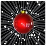 Esfera do Natal no fundo escuro ilustração stock