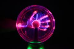 Esfera do plasma fotografia de stock
