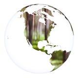 Esfera do projeto do conceito da terra do planeta Branco isolado Fotografia de Stock Royalty Free