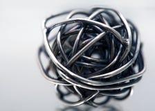 Esfera do scribble do metal Fotografia de Stock