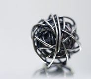 Esfera do scribble do metal Imagem de Stock
