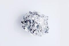 Esfera do Tinfoil isolada no branco Imagem de Stock Royalty Free