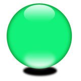 esfera do verde do feriado 3d Fotografia de Stock