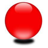 esfera do vermelho do feriado 3d Imagens de Stock