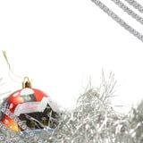 Esfera do vermelho do fundo do Natal fotos de stock royalty free