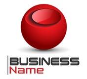 Esfera do vermelho do logotipo Imagem de Stock Royalty Free