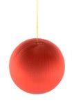 Esfera do vermelho do Natal Imagens de Stock Royalty Free