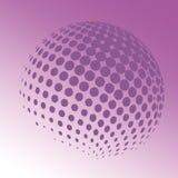 Esfera do vetor Ilustração técnica abstrata Objeto de 3 D que consiste em pontos Fotografia de Stock
