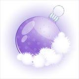 Esfera do vidro do Natal ilustração royalty free