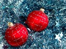 Esfera do vidro do Natal Foto de Stock Royalty Free
