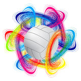 Esfera do voleibol Imagem de Stock Royalty Free