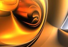 Esfera dourada 01 ilustração royalty free