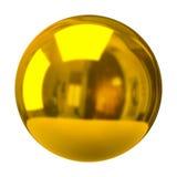 Esfera dourada Imagem de Stock Royalty Free