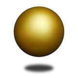 Esfera dourada Foto de Stock
