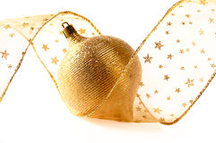 Esfera dourada imagens de stock royalty free