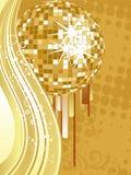 Esfera dourada do espelho Foto de Stock Royalty Free