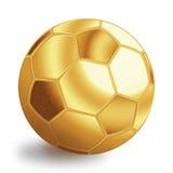 Esfera dourada do futebol Fotos de Stock