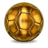 Esfera dourada do futebol Imagens de Stock Royalty Free