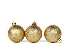 Esfera dourada do Natal Imagens de Stock Royalty Free