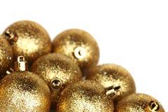 Esfera dourada do Natal Imagens de Stock