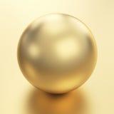A esfera dourada rende Fotografia de Stock Royalty Free