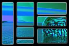 Esfera e água de Phycadelic Imagem de Stock Royalty Free