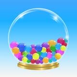 Esfera e bolhas Imagens de Stock Royalty Free