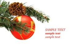 Esfera e cone vermelhos Fotos de Stock
