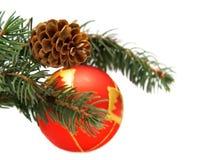 Esfera e cone vermelhos Fotos de Stock Royalty Free